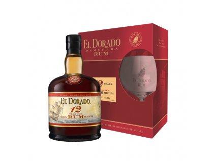 El Dorado 12 Y.O. 0,7 l + sklenka
