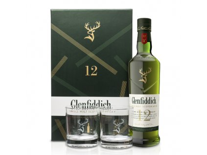 Glenfiddich 12 Y.O. 0,7 l se skleničkami