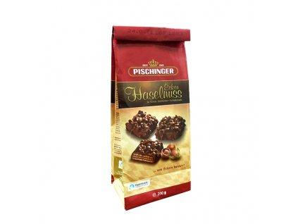 Pischinger - oplatky s hořkou čokoládou a oříšky 200 g