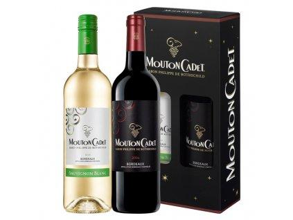 Mouton Cadet - Bordeaux Sauvignon Blanc AOC + Bordeaux Rouge AOC 2x0,75 l