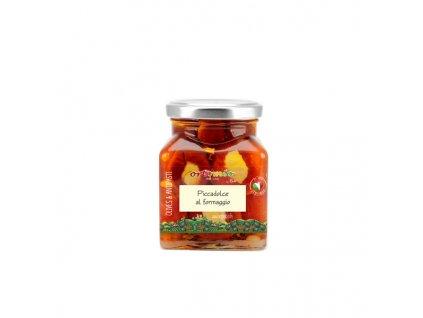 Ortomio cherry papričky plněné krémem Pecorino 280 g