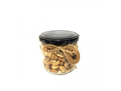 Ořechy Deluxe ve skle - kešu pražené, solené 200 g