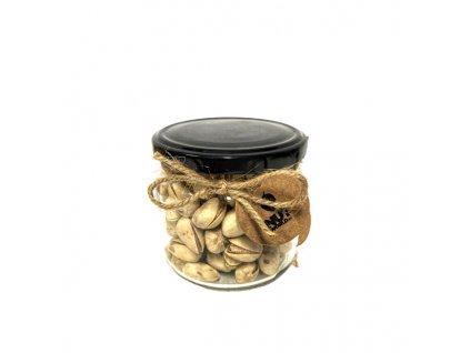 Ořechy Deluxe ve skle - pistácie pražené, solené 180 g