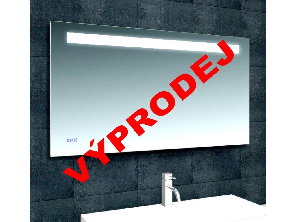 Zrcadlo se zabudovaným LED světlem a hodinami TIME 120