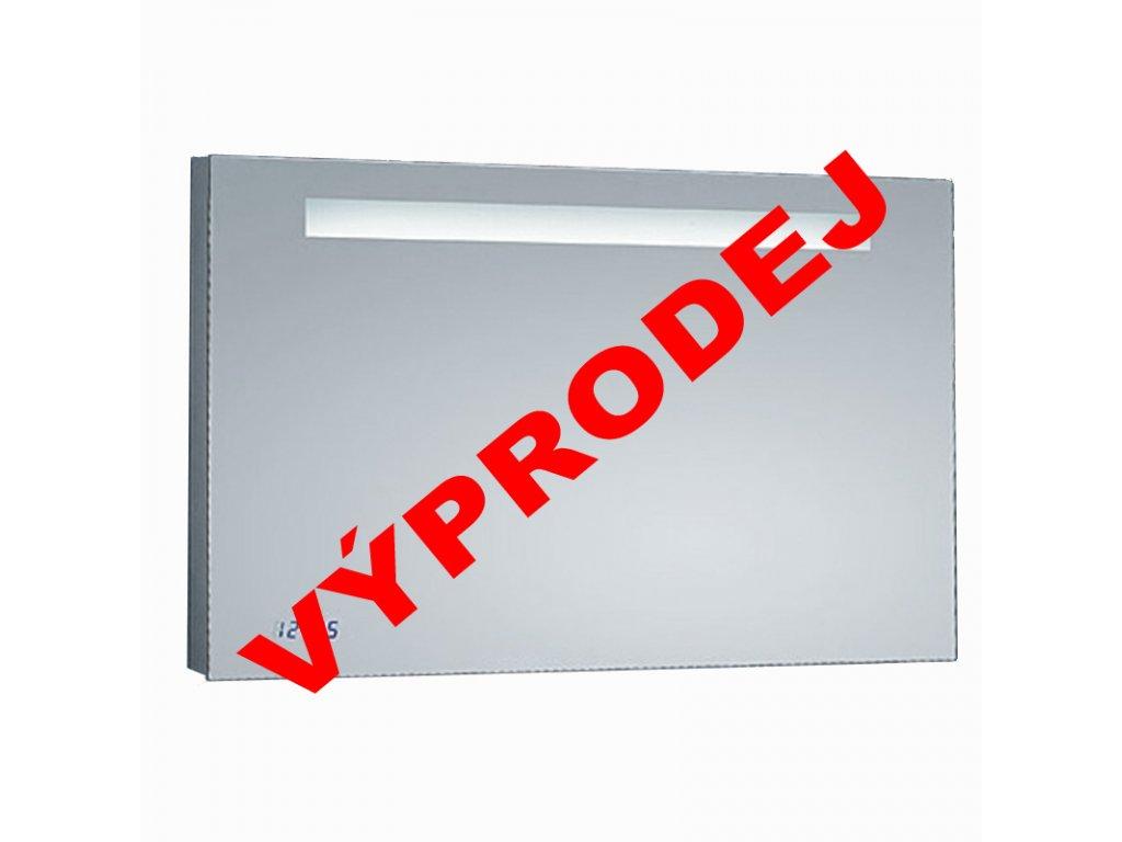 Zrcadlo se zabudovaným LED světlem a hodinami TIME 80