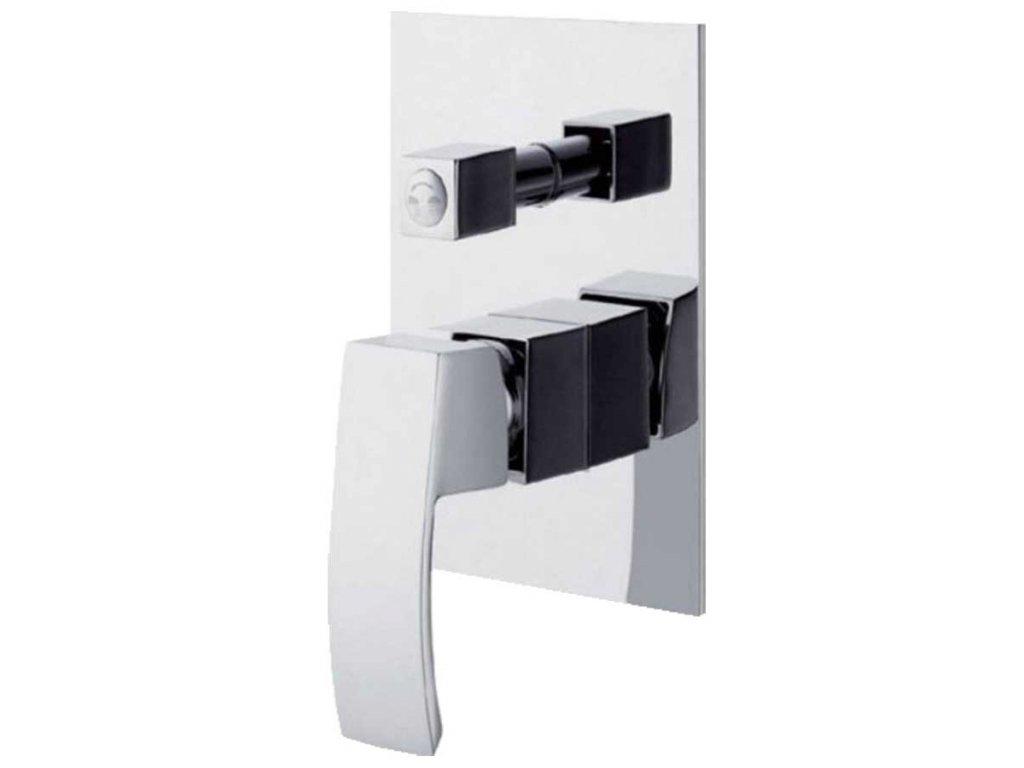 Podomítková páková vanová/sprchová baterie s keramickým přepínačem GINKO - dvoucestná