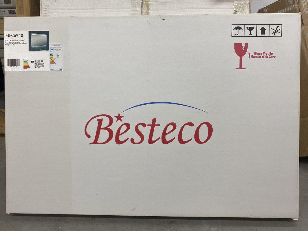 Besteco zrcadlo MILADA 100 cm s horním a spodním osvětlením  MFC65-100