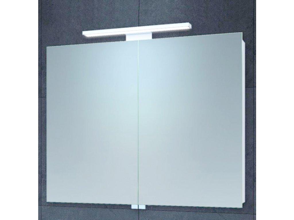 Zrcadlová skříňka MONICA BIG s LED osvětlením a poličkou