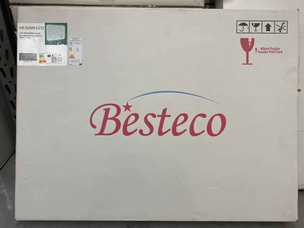 Koupelnové zrcadlo 90x65 cm s LED osvětlením, časem, datumem,teplotou a funkcí BLUETOOTH
