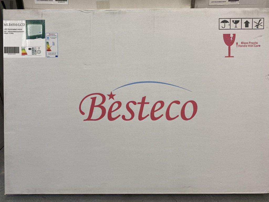 Koupelnové zrcadlo BRIGHT BLUETOOTH 100x65 cm s osvětlením LED, časem, datumem a teplotou
