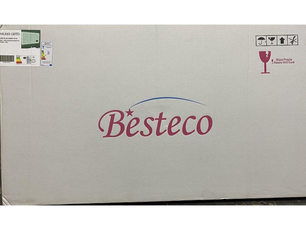 BRIGHT DIGITAL 120 - koupelnové zrcadlo s osvětlením , časem a ikonami počasí