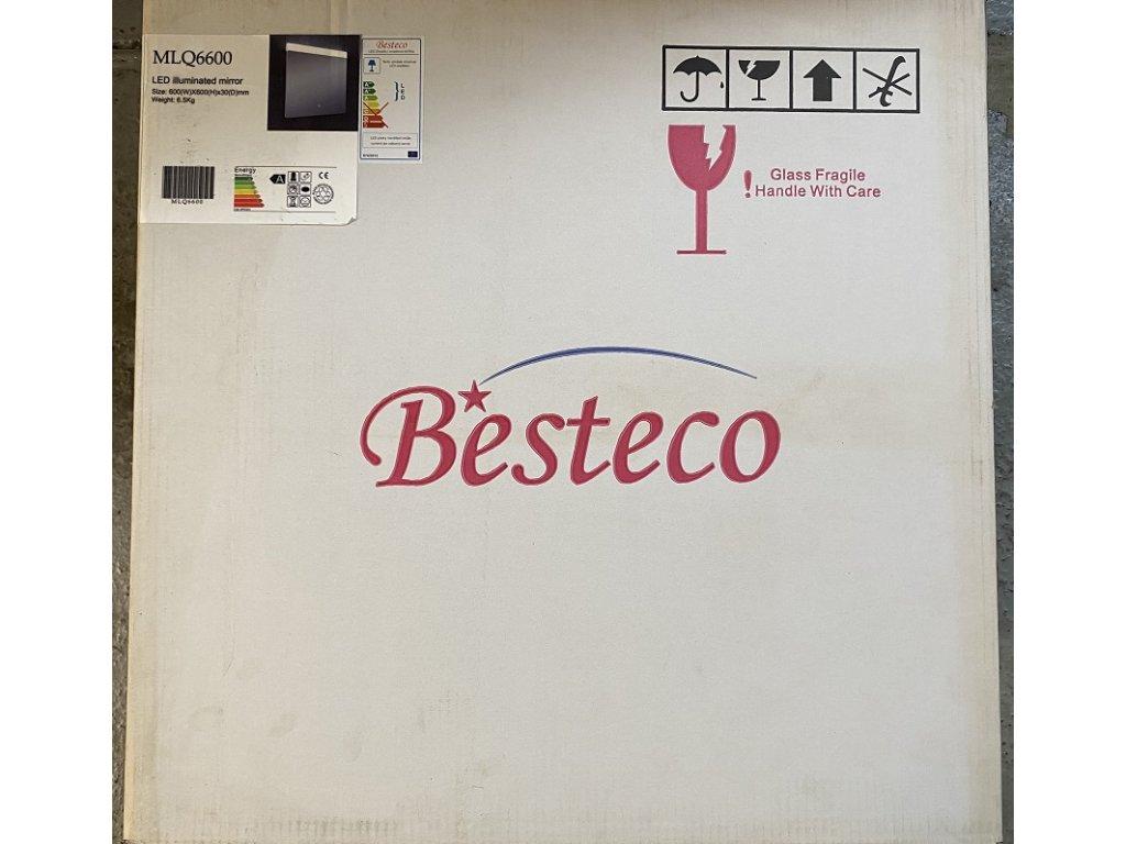 LED zrcadlo do koupelny NIM s nastavitelným horním osvětlením 60x60 cm