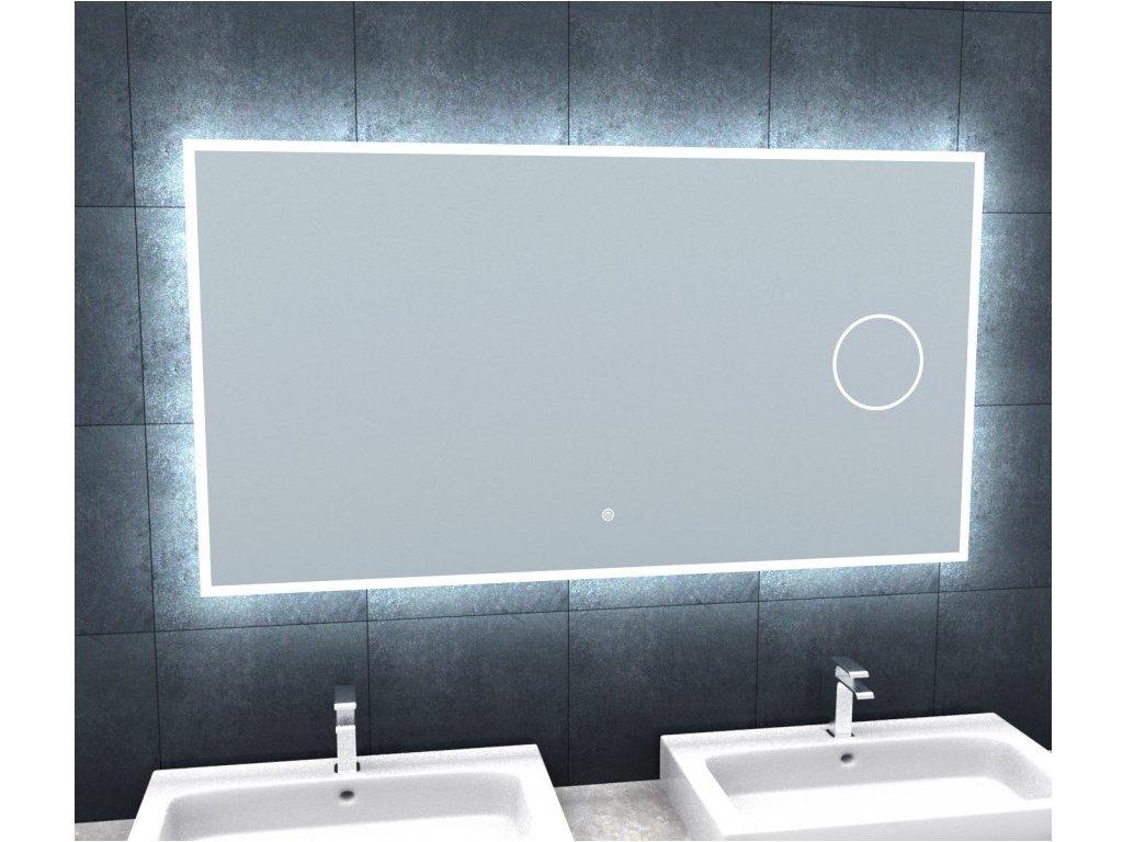 BRIGHT SILVER 120 - koupelnové zrcadlo s osvětlením a lupou
