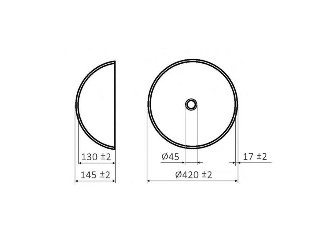 Skleněné umyvadlo s motivem spadaného listí LEAF
