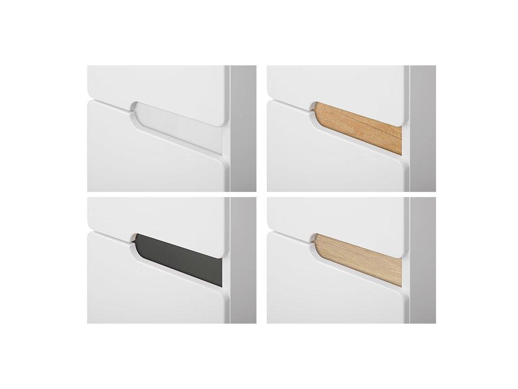 Koupelnová bílá skříňka s keramickým umyvadlem PRAGA 120