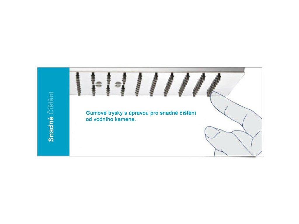 Sprchový sloup k napojení na baterií se sprchovou hlavou a ruční sprchou sprchová hava ABS/chrom 200x200 TORINO