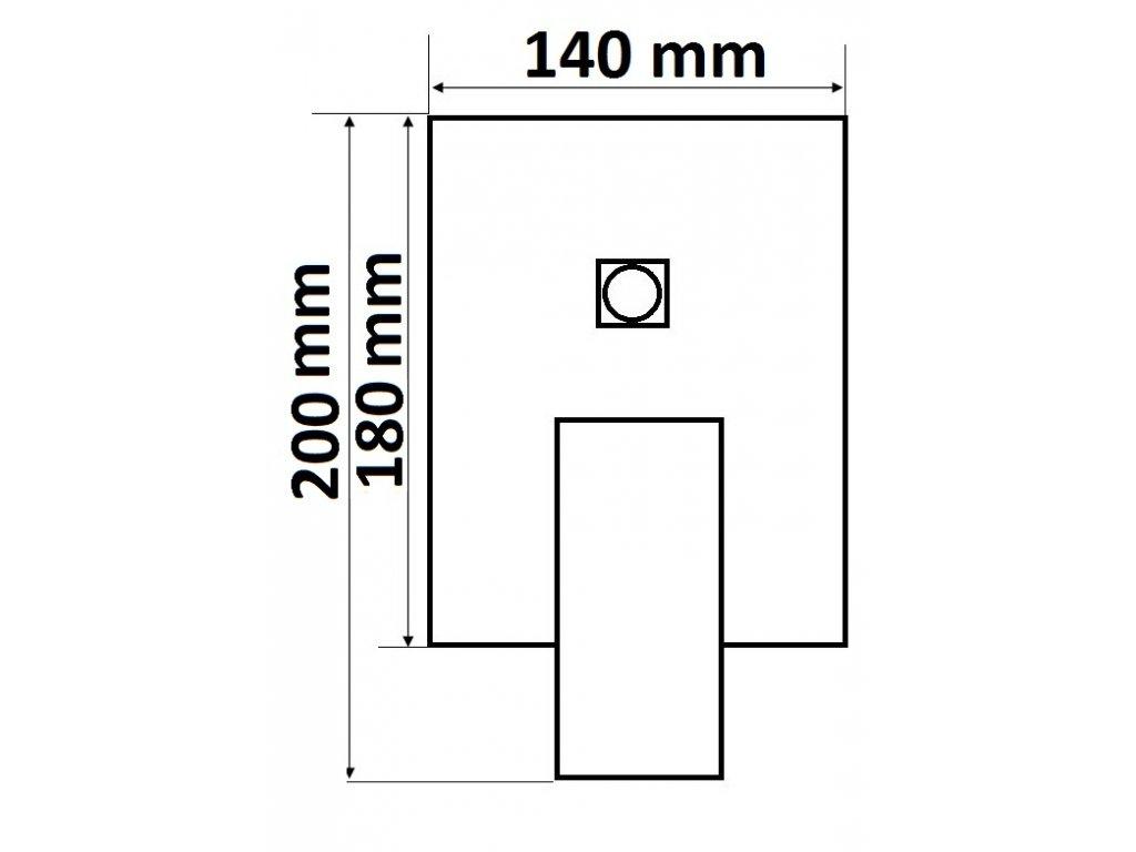 Sprchová podomítková páková baterie dvoucestná VENEZIA v provedení chrom