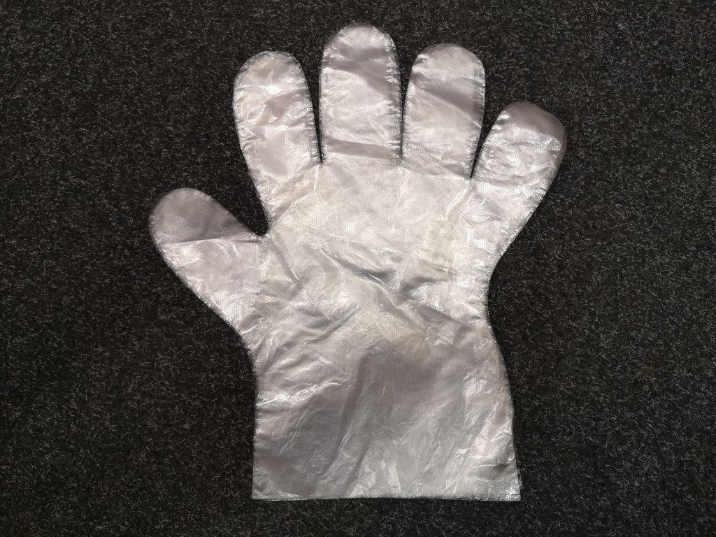 Jednorázové mikrotenové rukavice