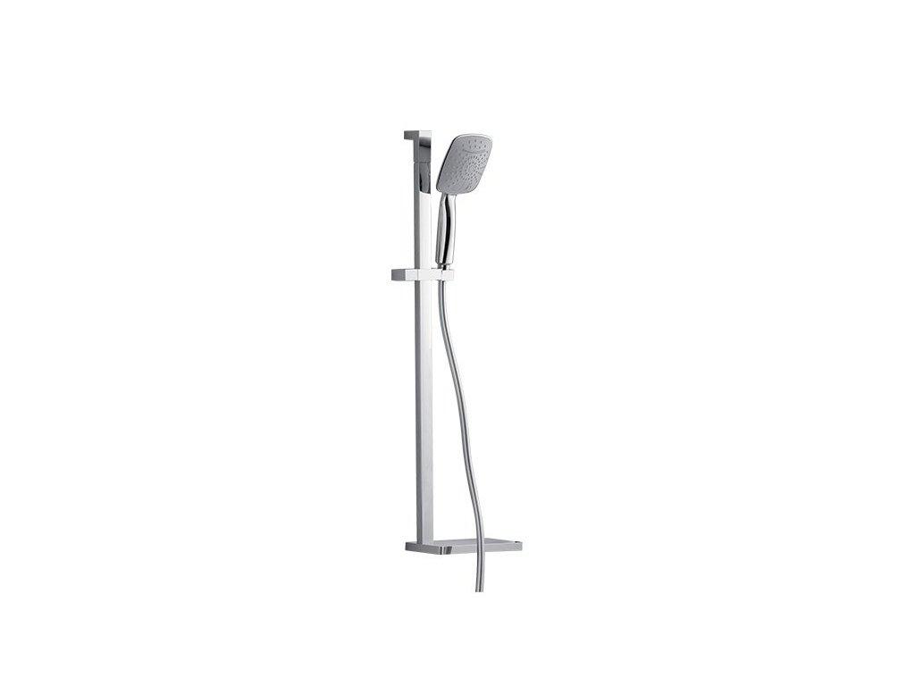 Posuvný držák hranatý EDGE včetně ruční sprchy