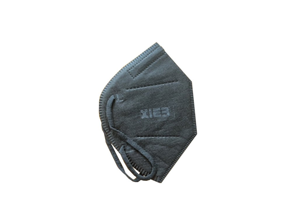 FFP2 černá  - 4 krabic (100 ks)