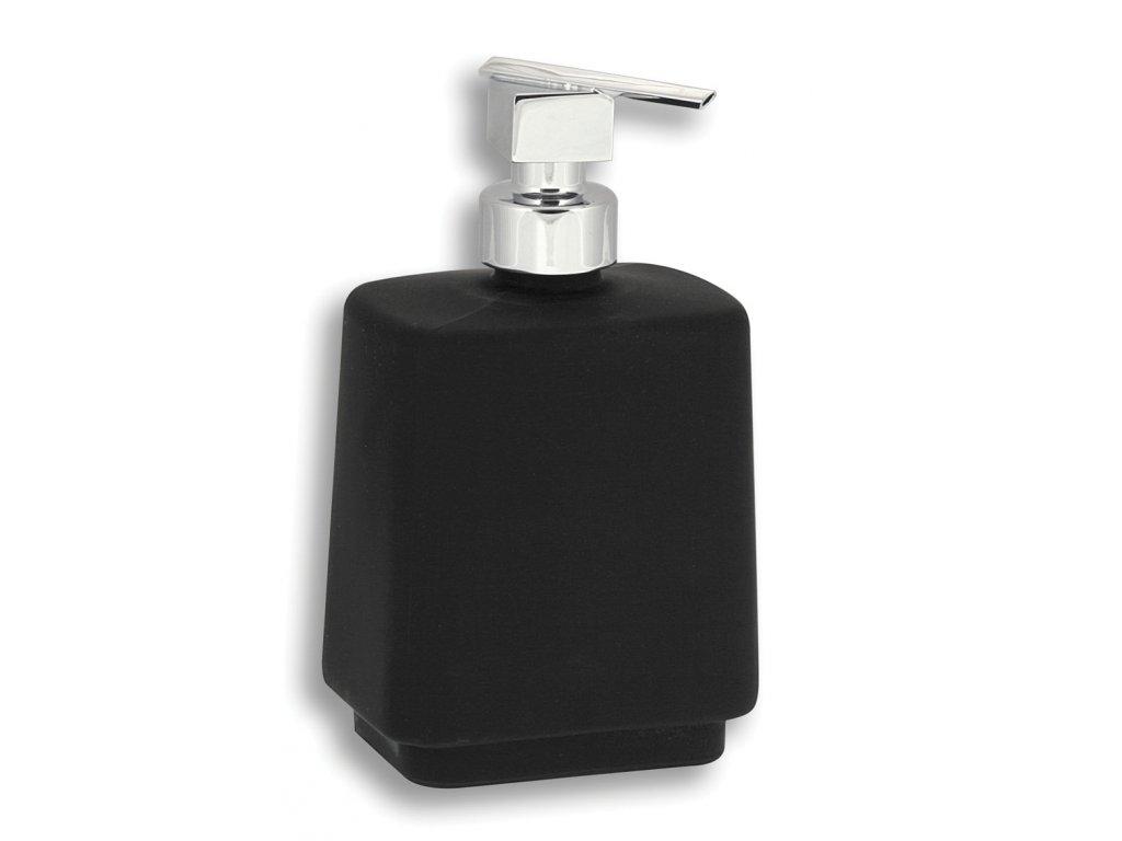 Dávkovač mýdla na postavení  - černá chrom