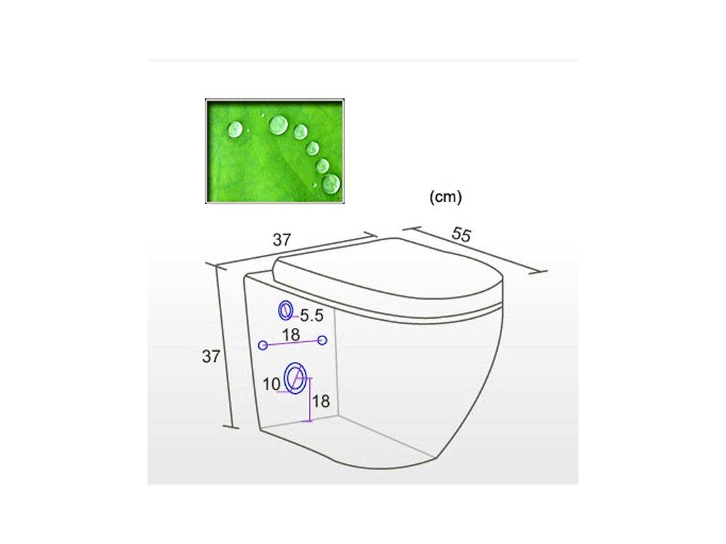 Keramická závěsná toaleta anticalc vč.sedátka BOCH
