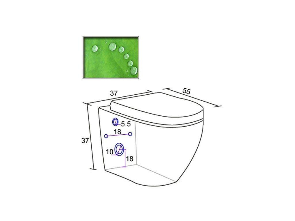 Závěsná keramická toaleta vč.sedatka soft-close BOCH