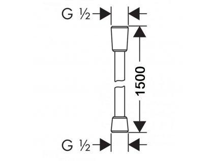 Sprchová hadice stříbrná/chrom 150 cm