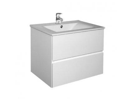 Koupelnová skříňka závěsná zásuvková s keramickým umyvadlem HARP 60