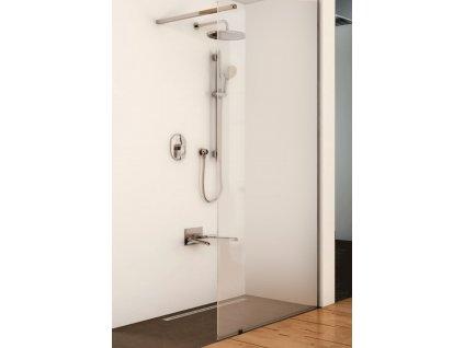Pevná sprchová zástěna WALK-IN s roměrem 120x200,140x200cm