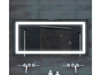 Zrcadlo MARFI 120 s LED osvětlením a pruhy po obvodu zrcadla
