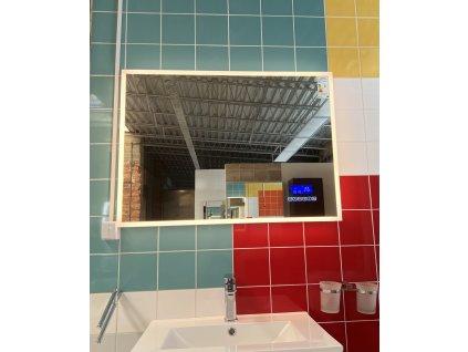BRIGHT BLUETOOTH 80 - koupelnové zrcadlo s osvětlením LED, časem, datumem a teplotou