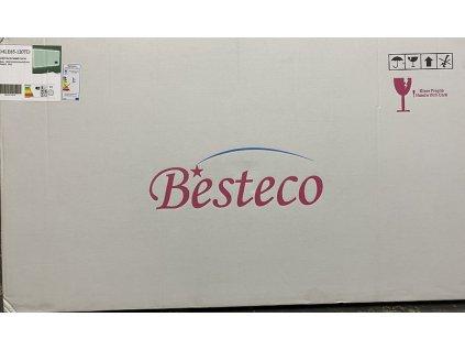Koupelnové zrcadlo 120x65 cm s osvětlením , časem a ikonami počasí na SMART panelu