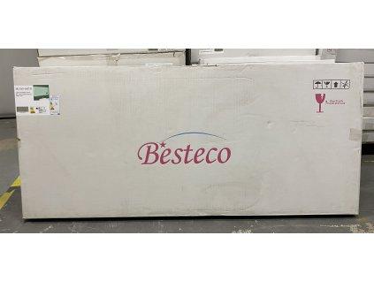 Koupelnové zrcadlo 160x65 cm s osvětlením , časem a ikonami počasí na SMART panelu