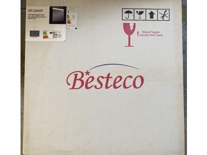 LED zrcadlo do koupelny RICI s nastavitelným horním osvětlením, rozměry 60x60 cm