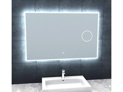 Besteco BRIGHT SILVER 100 cm zrcadlo s osvětlením a lupou MLS6510MA