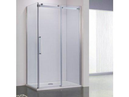 Dvoumetrový obdélníkový sprchový kout bez vaničky