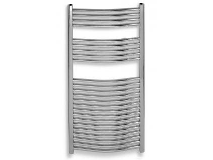Koupelnový radiátor chrom o šířce 450 mm oblé