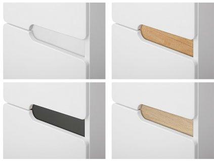 Koupelnová bílá skříňka s keramickým umyvadlem PRAGA 100