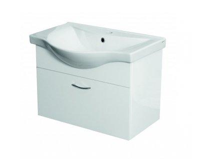 Zavěsná koupelnová skříňka s umyvadlem VICTOR 65