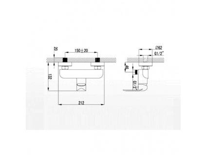 Sprchová nástěnná páková baterie bez přislušenství Nobless Tina Bílá/Chrom