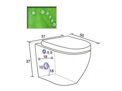 Závěsná toaleta anticalc vč.sedatka soft-close BOCH