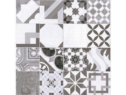 dlažba MOSAICO GRIS, mat (mix dekorů)