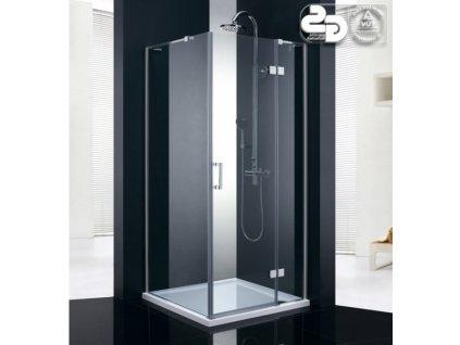 Obdélníkové sprchový kout RICO 80x90 - pravé provedení