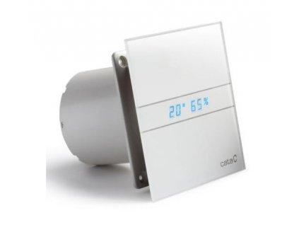 axialni ventilatory na zed ci do stropu e100 gth hygro s casovacem sklo bile