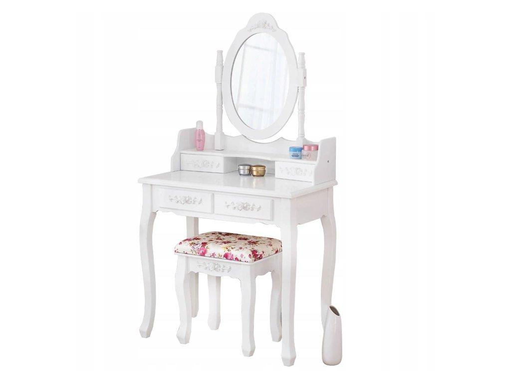 Toaletní stolek Primadonna ROSE  + dárek LED make-up zrcadlo