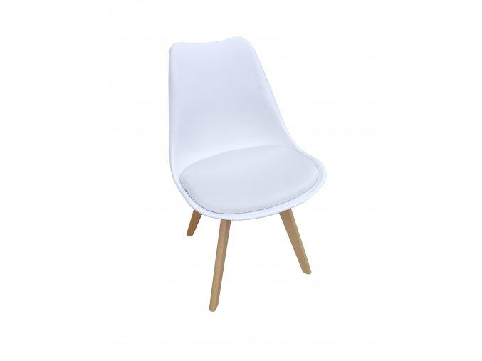 Židle bílá skandinávsky styl BASIC