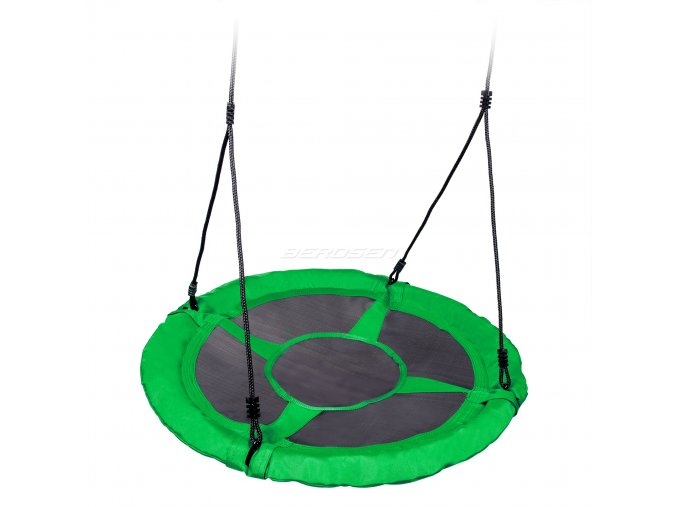 Houpačka - ptačí hnízdo zelené 95cm
