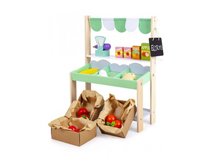 Detský drevený obchod Obláčik Ecotoys 2