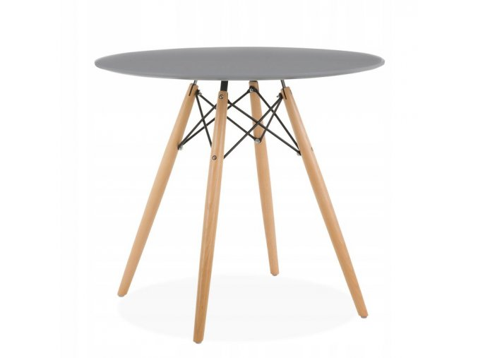 Kulatý stůl ANELLO Grey 80 cm
